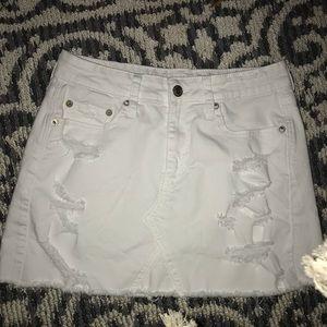 American Eagle white denim mini Skirt